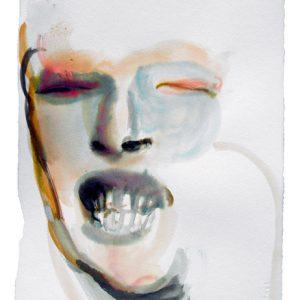 o.T., Aquarell & Tusche auf Papier, 40 cm x 28 cm, 2011