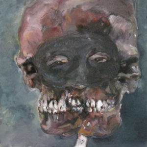 Am Abend, Diptychon, Öl auf Leinwand, je 62 cm x 62 cm, 2012