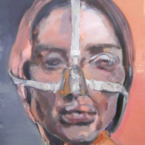 Gehhilfe, Öl auf Leinwand, 76 cm x 60 cm, 2012