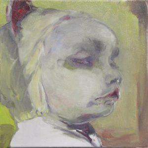 Die Haube, Öl auf Leinwand, 55 cm x 55 cm, 2010