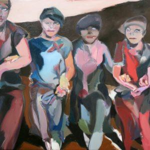 """""""Happy Days"""", Öl auf Leinwand, 110 cm x 160 cm, 2018"""