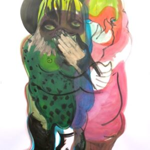 "o.T., aus der Serie ""You and Me"", Mischtechnik auf Papier, 120cm x 90cm, 2020"