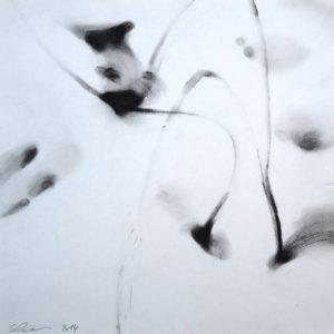 Gräser im Schnee, Pastell auf Papier, 32 cm x 32 cm, 2014