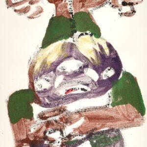 """o.T., aus der Serie """"On the other Side"""", Öl und Tusche auf Papier, ca. 73cm x 51cm, 2020"""