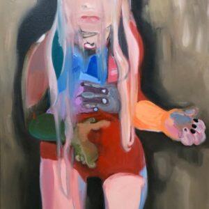 """""""The Girl who saw the last Rainbow"""", Öl auf Leinwand, 110cm x 75cm, 2020"""