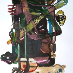O.T., Mischtechnik auf Papier, 130cm x 90cm, 2019