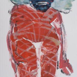 """o.T., aus der Serie """"On the other Side"""", Öl und Tusche auf Papier, ca. 73cm x 51cm, 2021"""