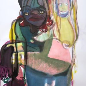 "o.T., aus der Serie ""You and Me"", Mischtechnik auf Papier, 130cm x 90cm, 2021"