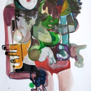 O.T., Mischtechnik auf Papier, 140cm x 90cm, 2020