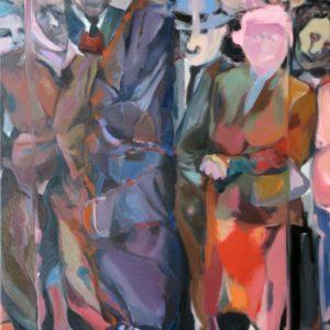 """""""The Show"""", Öl auf Leinwand, 180cm x 100cm, 2017"""