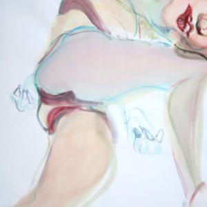 o.T., Aquarell & Tusche auf Papier, 130 cm x 85 cm, 2016