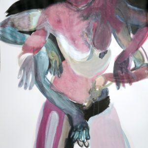 o.T., Mischtechnik auf Papier, 130 cm x 85 cm, 2018