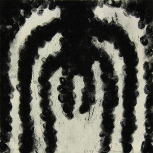 o.T., Pastellkreide auf Papier, 32 cm x 32 cm, 1998
