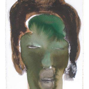 o.T., Aquarell & Tusche auf Papier, 40 cm x 28 cm, 2010