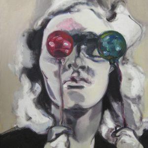 Rosenkugeln I, Öl auf Leinwand, 100 cm x 80 cm, 2015