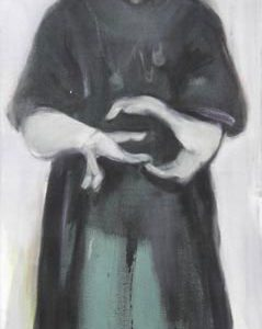 l'enfant phénomène 1, 2008, Öl auf Leinwand, 176 cm x 70 cm