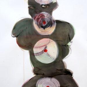 o.T., Aquarell & Tusche auf Papier, 110 cm x 83 cm, 2017