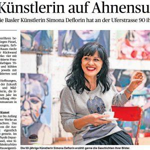 Eine Künstlerin auf Ahnensuche, Baseler Zeitung, 2015