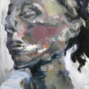 Der Streifenpullover, Öl auf Leinwand, 90 cm x 60 cm, 2011