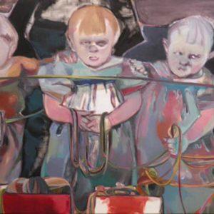 Geschwister, 2014, Öl auf Leinwand, 110 cm x 200 cm