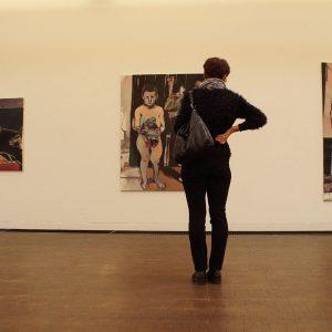 Kubus: in der Ausstellung