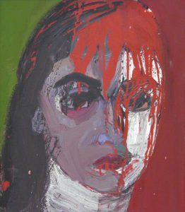 Selbstbildnis, Öl auf Leinwand, 52 cm x 45 cm, 1992