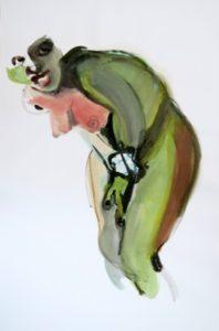 o.T., Aquarell auf Papier, 130cm x 85cm, 2017