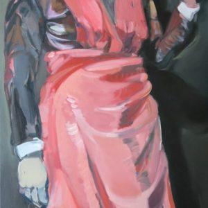 """secrets"", Öl auf Leinwand, 175cm x 80cm, 2017"