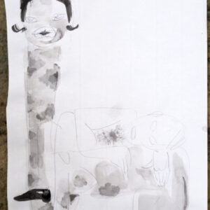 O.T., Mischtechnik auf Papier, 29.5cm x 20cm, 2020