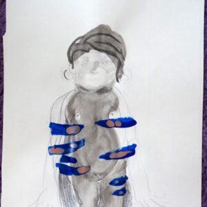 O.T., Mischtechnik auf Papier, 29.5cm x 20cm, 2021